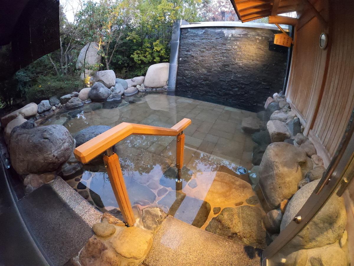 やまぐち湯田温泉古稀庵 大浴場の露天風呂