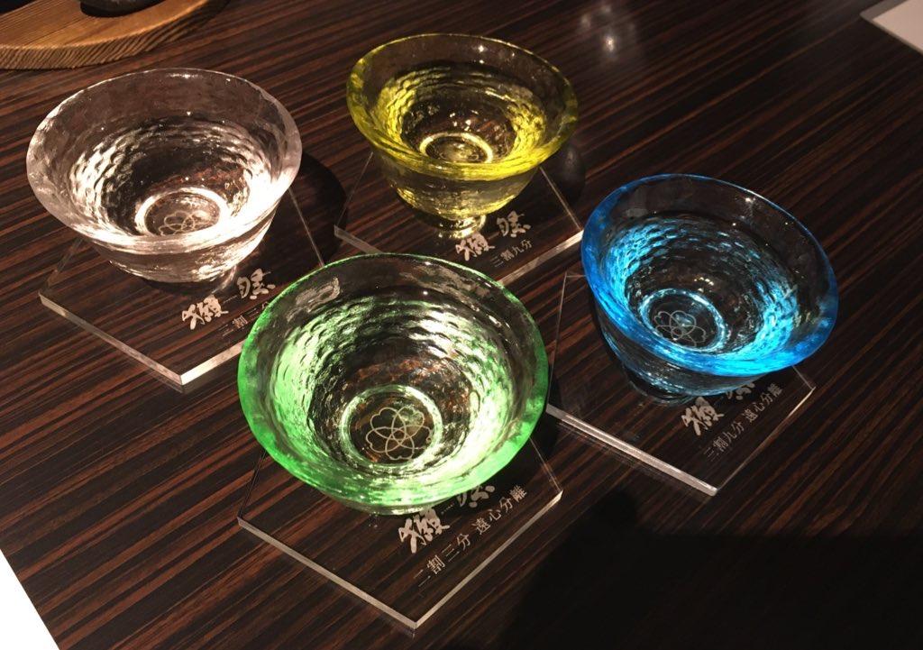 やまぐち湯田温泉古稀庵 夕食で楽しむ「獺祭」利き酒セット