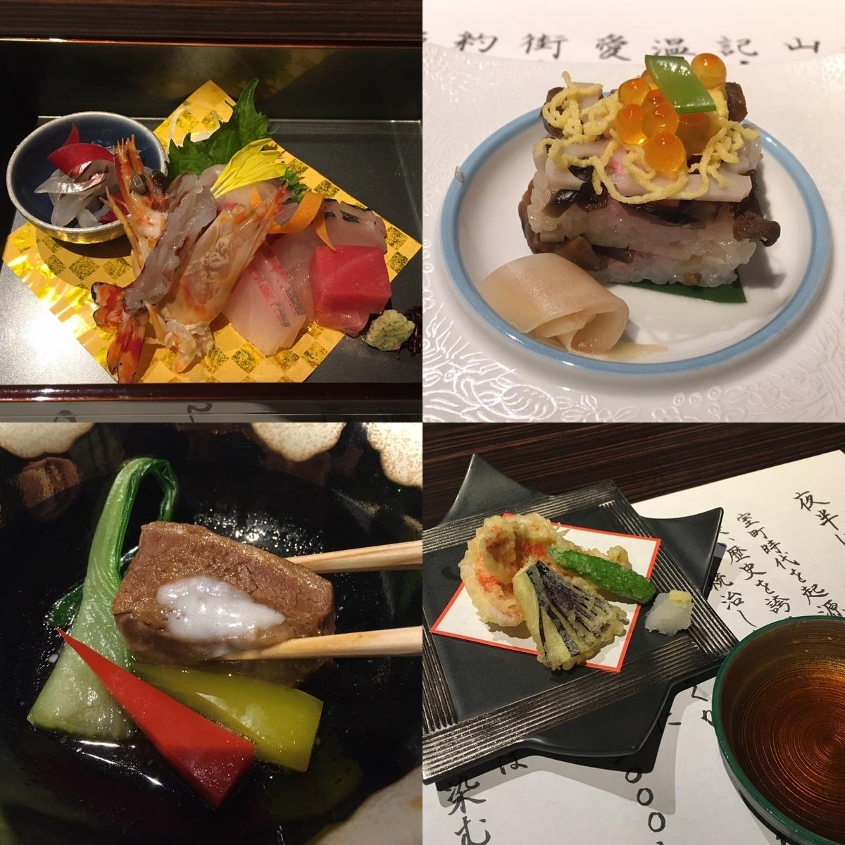 やまぐち湯田温泉古稀庵の夕食