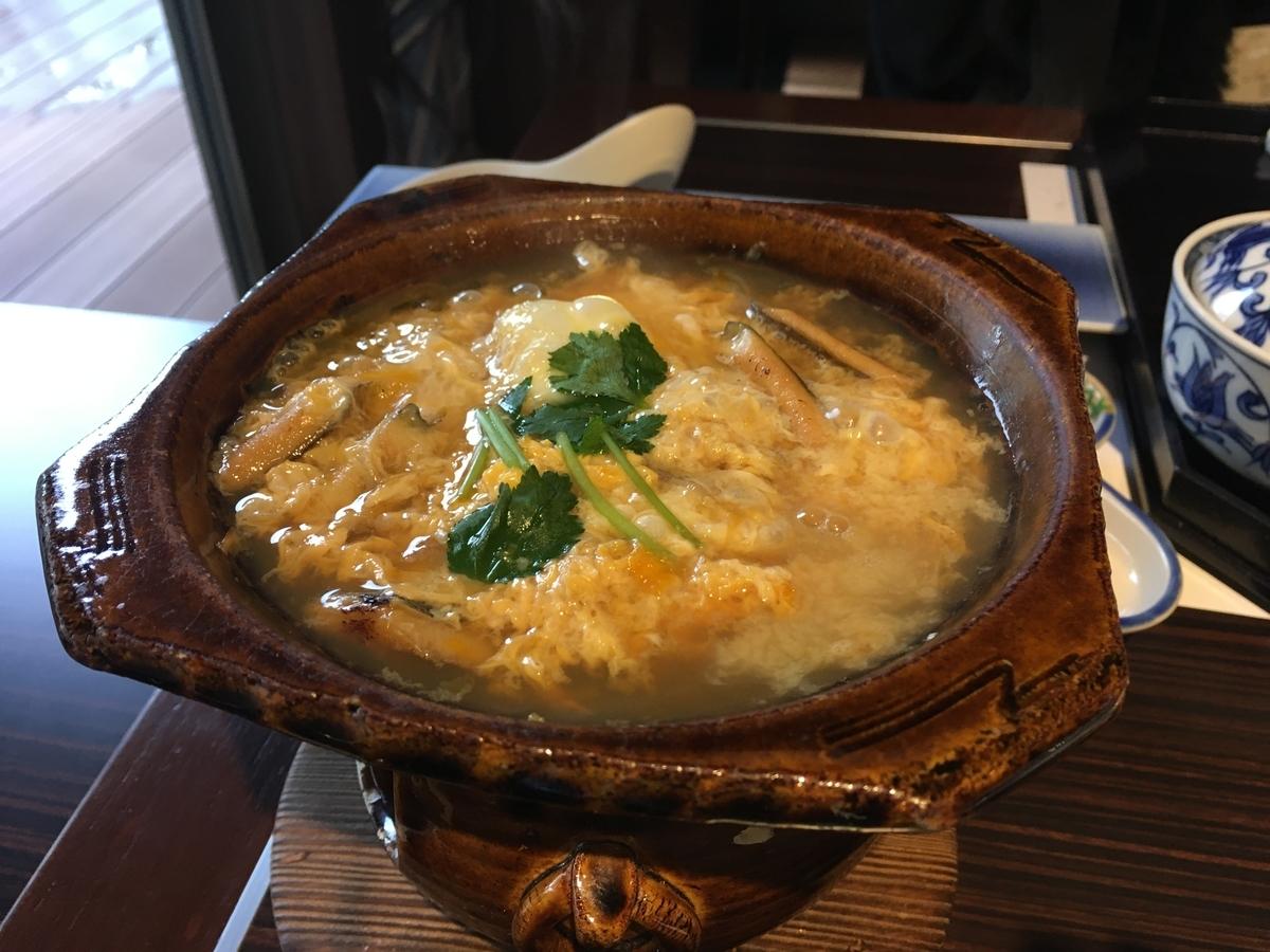 やまぐち湯田温泉古稀庵 朝食の鍋物
