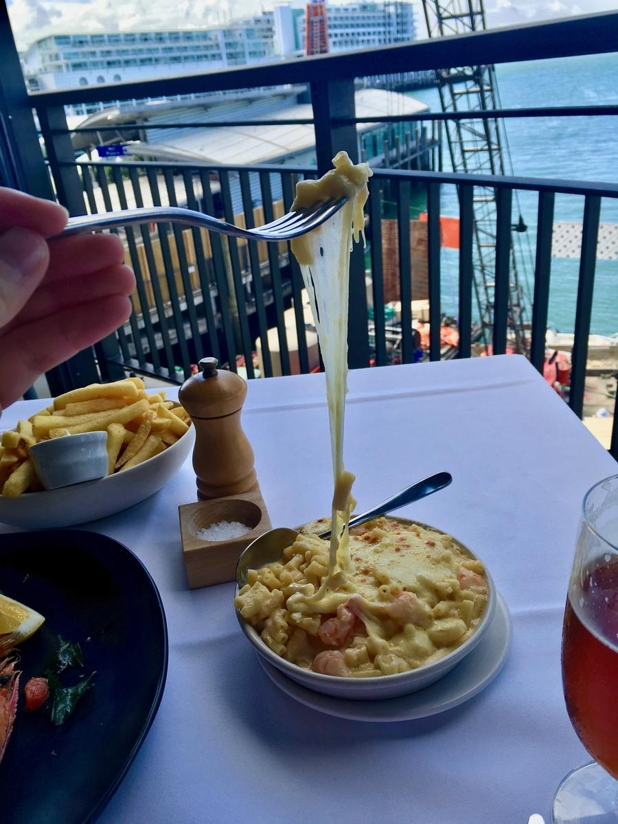 【オークランド グルメ】必ず行っておきたい!ランキング上位にも必ず挙がる3つのレストラン Harbourside Ocean Bar Grillのマカロニ&チーズ
