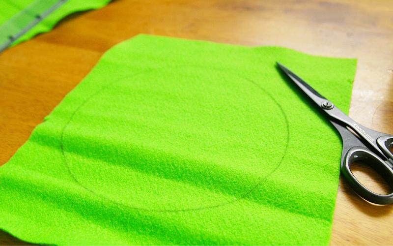 緑のフェルト1
