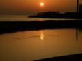 [夕日]重信川河口