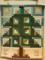 クリスマスツリーのタペストリー