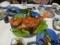 室戸荘夕食(金目鯛あんかけ)