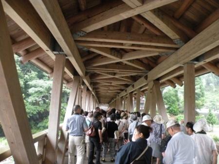 三島神社屋根つき橋