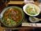 カレーうどん+サラダ