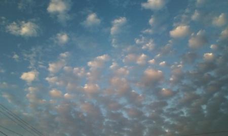 朝焼けの西の空