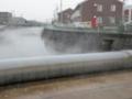 川面の湯気