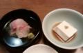 [食]白雪豆腐と刺身2種盛り