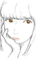 Tumblrの女の子模写する