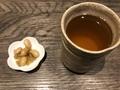 大豆ピクルス、蕎麦茶@守貞