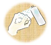 クリームが固いときの使用法の画像
