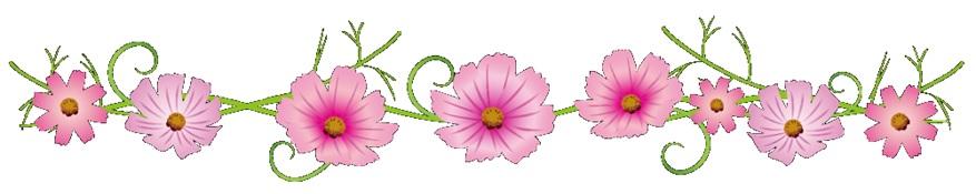 花の仕切り線画像