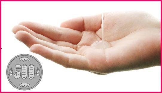 手のひらに広げた乳酸菌ローション