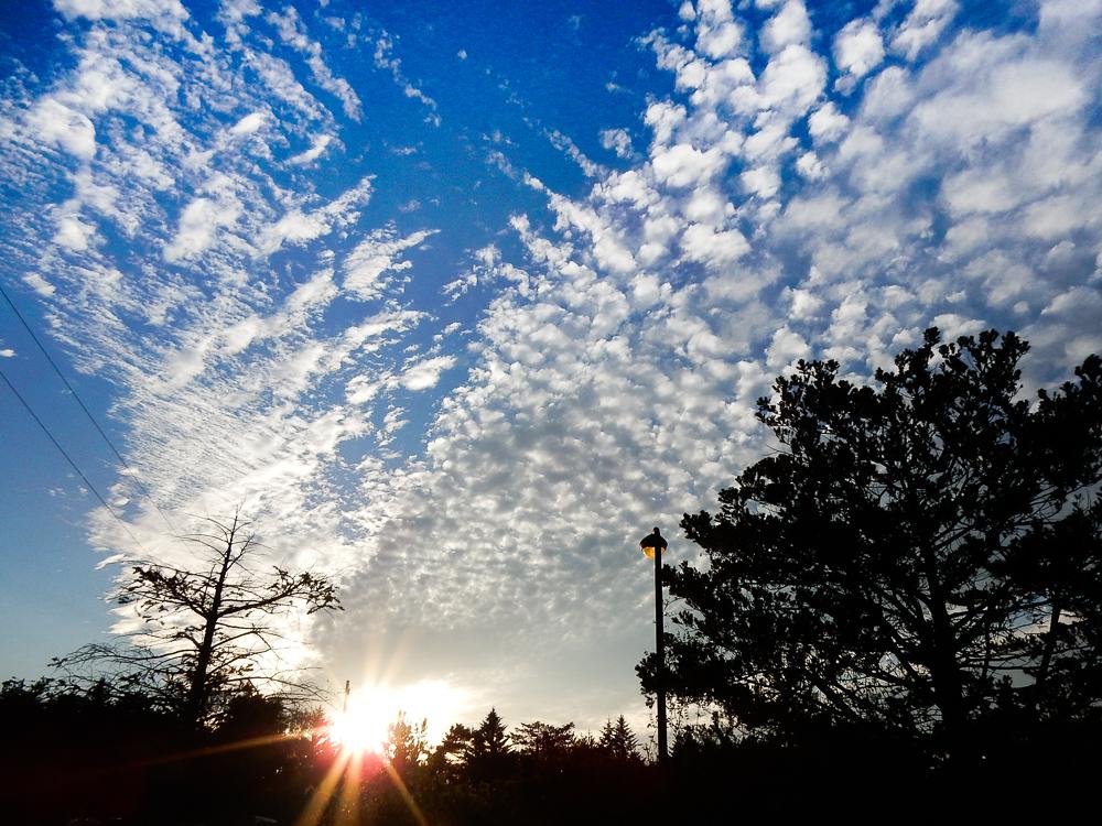 軽井沢 秋空 青空 雲