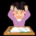 勉強が不調な人のイラスト(女性)