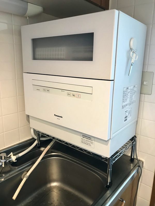 卓上型食洗機の設置完了