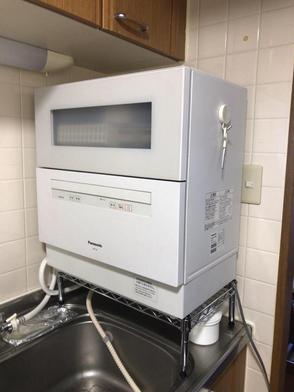 賃貸キッチンに食洗機を設置
