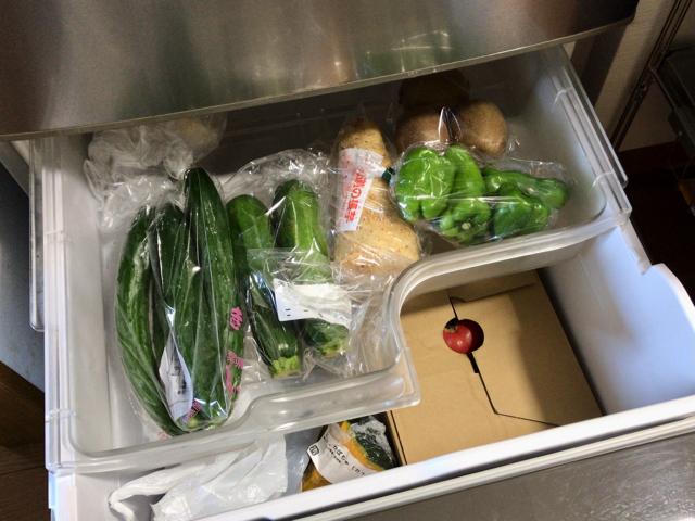野菜室はピカピカ