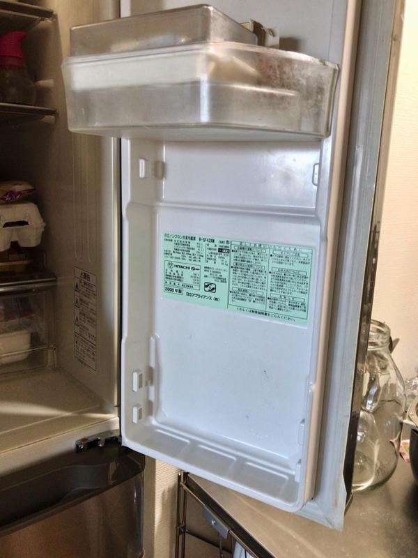 冷蔵庫のドアポケット一つだけ掃除