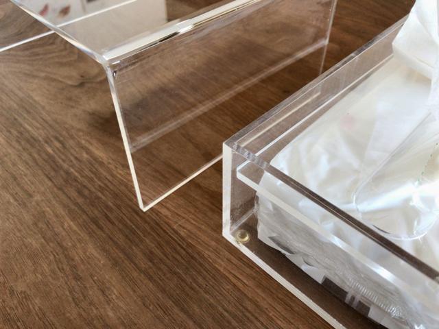 無印良品のアクリル製品は数年後も透明のまま