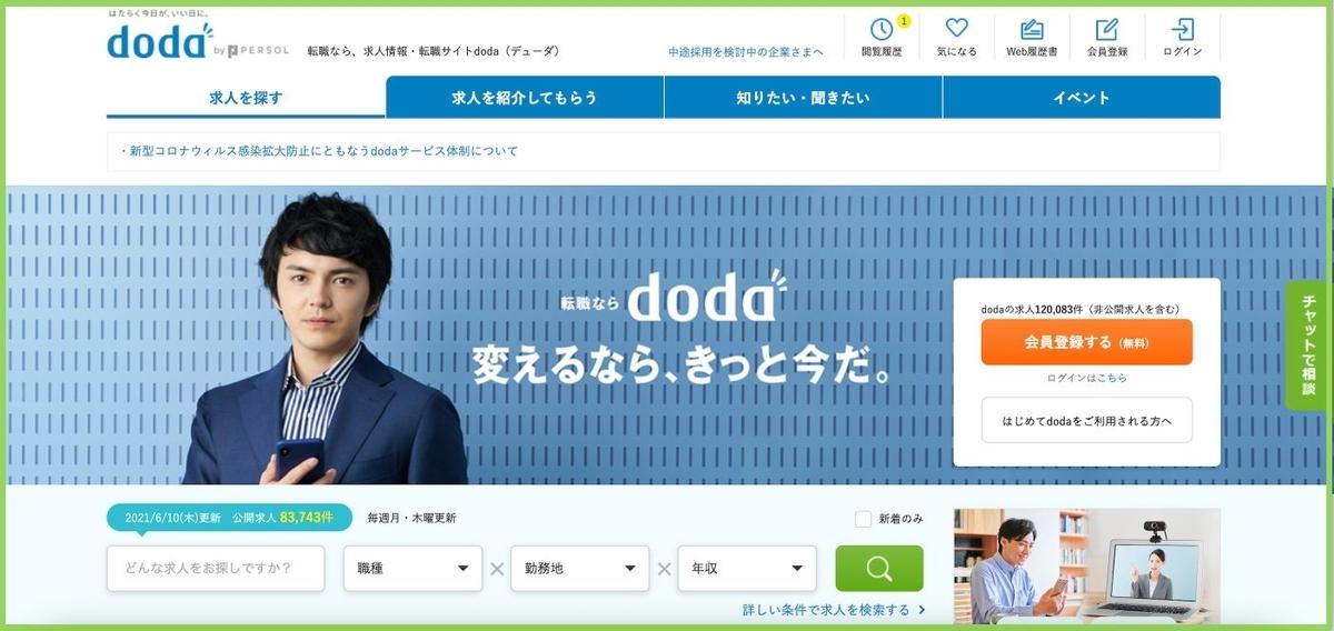 韓国語 DODA