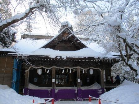 猿賀神社・初詣・雪景色
