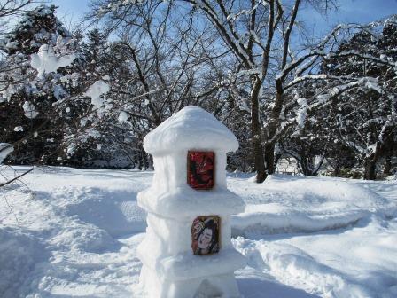 雪燈籠の錦絵はねぷた絵のこと