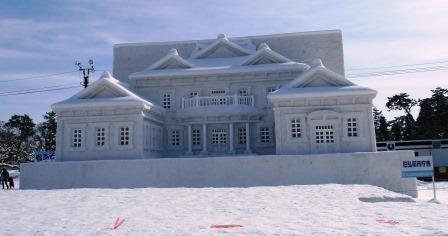 弘前雪燈籠まつりの大雪像