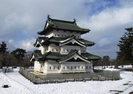 弘前城・雪