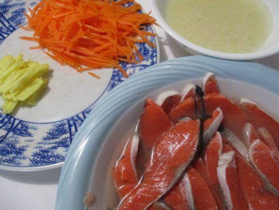 紅鮭の飯ずしレシピ