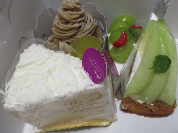 パティスリーヴェルジュのタルトケーキ