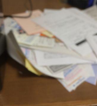 溜まった書類