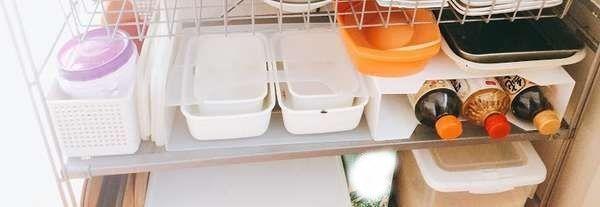 調味料と保存容器の整頓