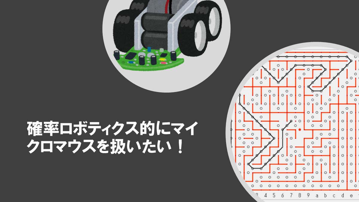 確率ロボティクス的にマイクロマウスを考えたいアイキャッチ画像