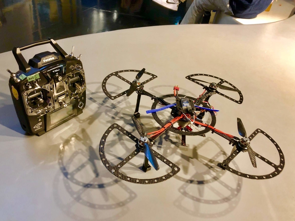 研究室で学生と作った飛行ロボコン用クアッドコプタ