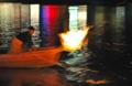 京都新聞写真コンテスト かがり火の鵜舟