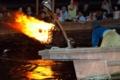 京都新聞写真コンテスト かがり火に照らされて