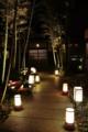 京都新聞写真コンテスト 小道を照らす
