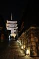 京都新聞写真コンテスト 石畳を照らす