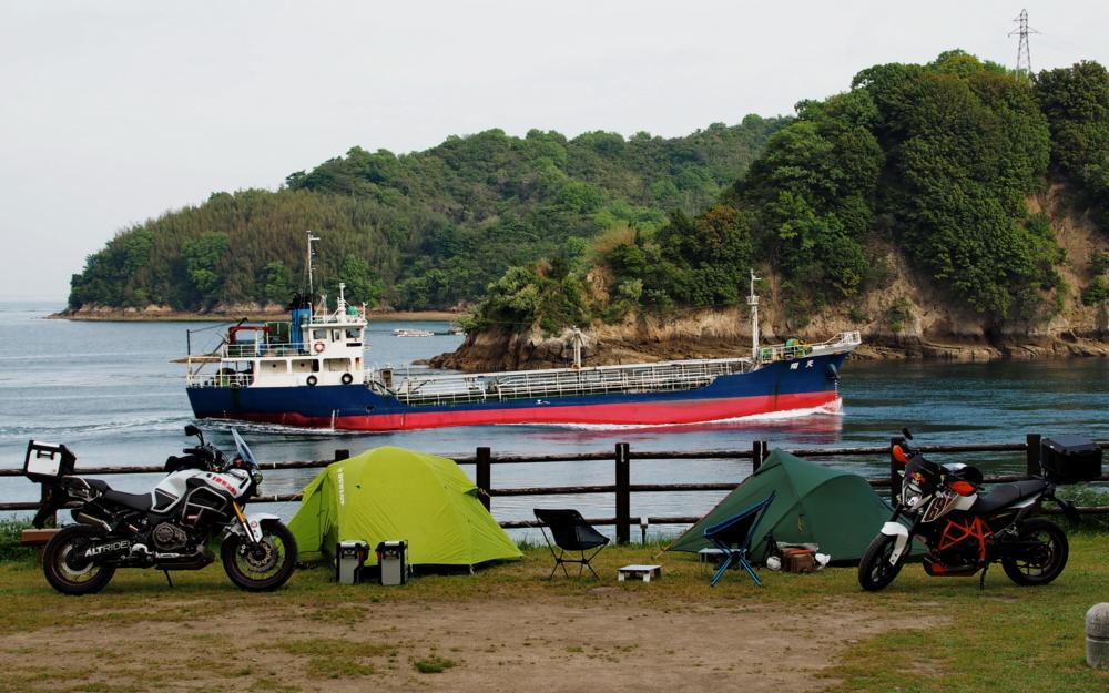 しまなみ海道 伯方島 船折瀬戸キャンプ場