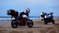 [YAMAHA][XT1200Z][supertenere][KTM][690DUKE][バイクのある風景][千里浜なぎさドライブ][石川県][キャンプツーリング] 千里浜なぎさドライブウェイ