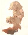 [マビノギ]キランくんの脚絆の下の構造について考えてたら萌えた