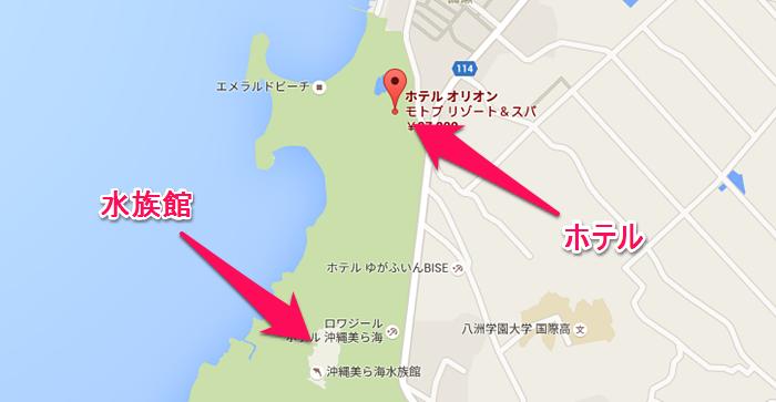 海洋博公園の地図