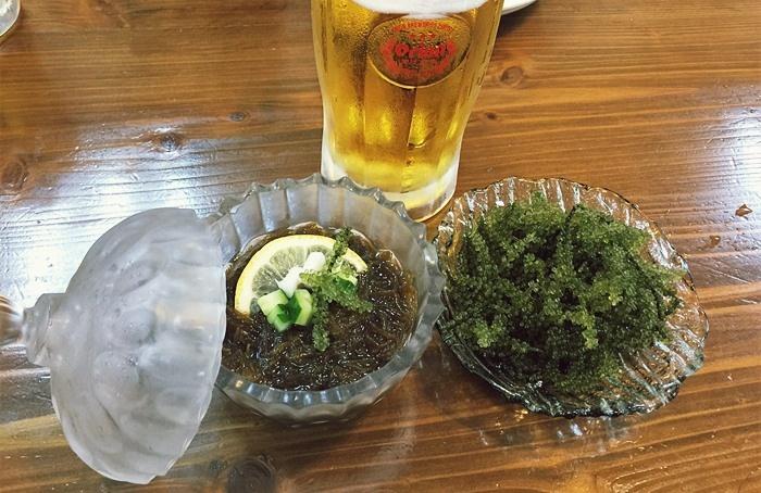 もずく、海ぶどう、オリオンビール