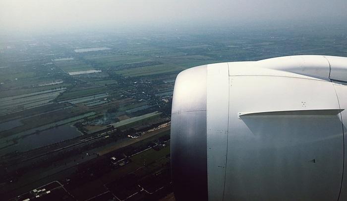 機内から見たタイの大地