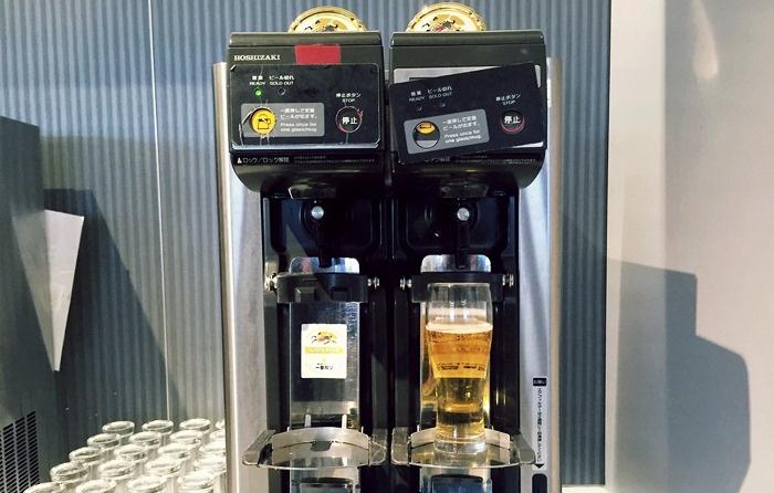 ANAラウンジのビールサーバー