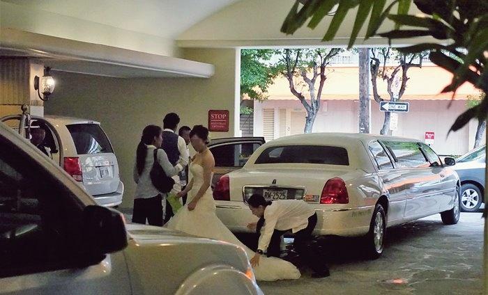 ビーチタワー車寄せで出会った花嫁