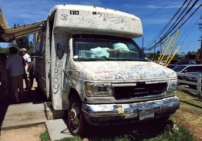 ジョバンニカフク店の旧トラック